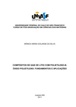 COMPÓSITOS DE SAIS DE LÍTIO COM POLIETILENO-B