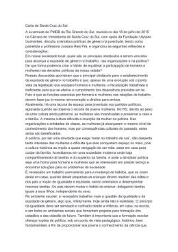 Carta de Santa Cruz do Sul: A Juventude do PMDB do Rio Grande