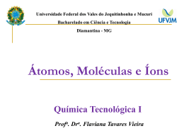 Átomos, Moléculas e Íons