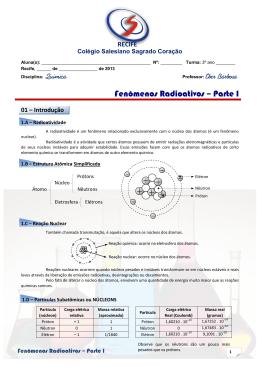 Fenômenos Radioativos – Parte I