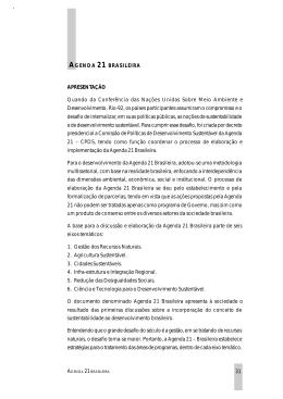 31 AGENDA 21 BRASILEIRA APRESENTAÇÃO Quando - PUC-SP