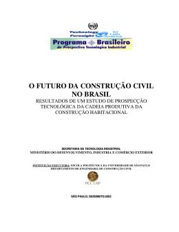 construção civil - Ministério do Desenvolvimento, Indústria e