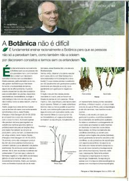 A Botânica não é difícil