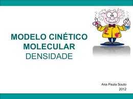 MODELO CINÉTICO MOLECULAR DENSIDADE