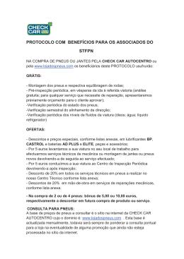 PROTOCOLO COM BENEFÍCIOS PARA OS ASSOCIADOS DO STFPN