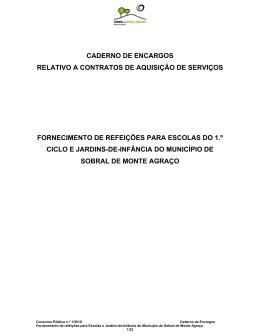 caderno de encargos - Câmara Municipal de Sobral de Monte Agraço