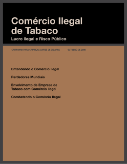 Comércio Ilegal de Tabaco - Campaign for Tobacco