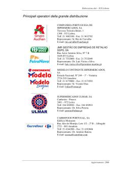 Maiores distríbutores de productos italianos em Portugal