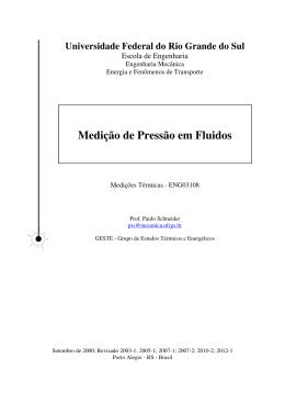 Medição de Pressão em Fluidos