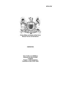 MTB – 02 – PM – Manual Técnico de Bombeiros – Hidrantes