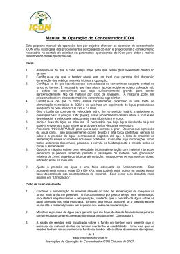 Manual de Operao do Concentrador iCon