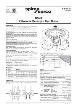 DCV4 Válvula de Retenção Tipo Disco