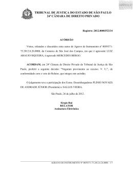 tribunal de justiça do estado de são paulo 24ª câmara de direito