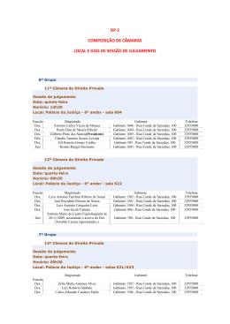 dp 2 composição de câmaras local e dias de sessão de julgamento