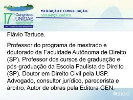 Mediação e conciliação - Segurança Jurídica - Flávio Tartuce