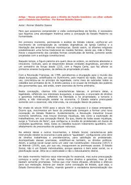 Novas perspectivas para o Direito de Família brasileiro: um
