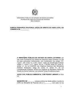 da comarca de xxxxxxx - Ministério Público