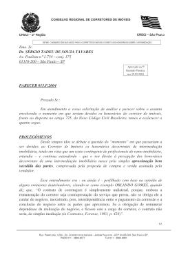 Ilmo. Sr. Dr. SÉRGIO TADEU DE SOUZA TAVARES Av