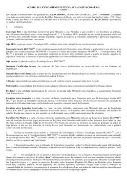 acordo de licenciamento de tecnologia e quitação g