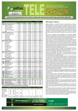 Tele Soja.cdr - SAFRAS & Mercado