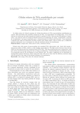 Células solares de TiO2 sensibilizado por corante