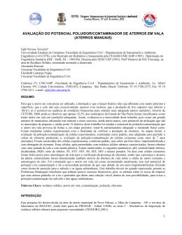 1 avaliação do potencial poluidor/contaminador de aterros