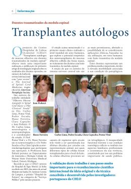 Transplantes autólogos de mucosa o