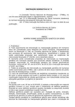Instrução Normativa nº 9 CTNBio