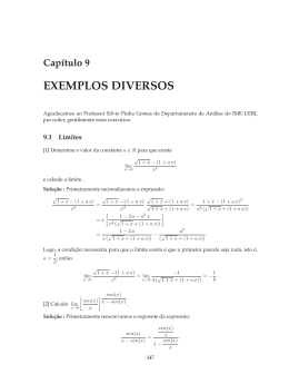 Capítulo 9 EXEMPLOS DIVERSOS