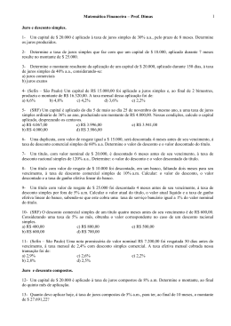 1a lista - com a tabela do FVF