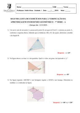 Lista 2 – 7ª A – Desenho Geométrico