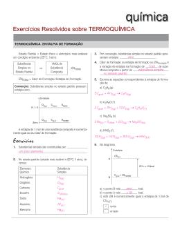 Exercícios Exercícios Resolvidos sobre TERMOQUÍMICA