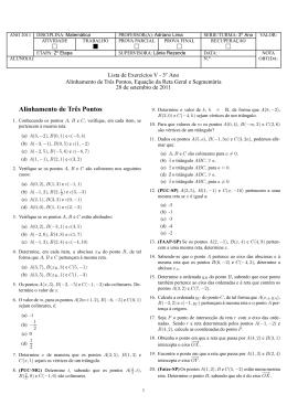 Alinhamento de Três Pontos, Equação da Reta Geral e