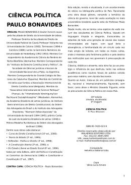 1 . CIÊNCIA POLÍTICA - Professor Francisco Queiroz