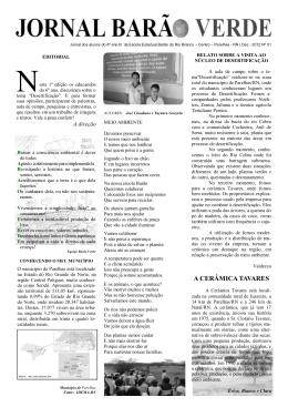 Jornal Barão Verde, edição Nº 01 – Dezembro/2012