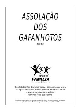 ASSOLAÇÃO DOS GAFANHOTOS
