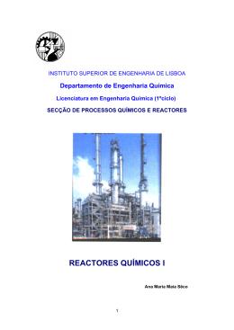 reactores químicos i - Departamento de Engenharia Química