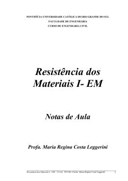 Resistência dos Materiais I- EM