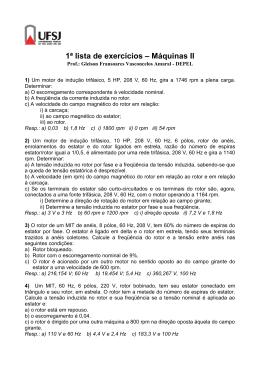 1ª lista de exercícios – Máquinas II