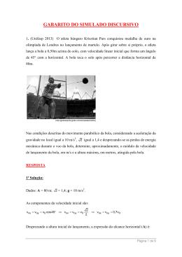 GABARITO DO SIMULADO DISCURSIVO