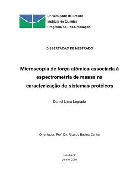 Microscopia de força atômica associada à espectrometria de massa