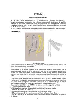 capítulo 6 - das peças de uniformes complementares