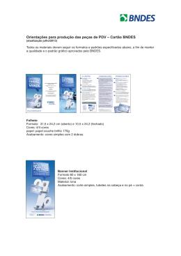 Orientações para a produção das peças do Cartão BNDES