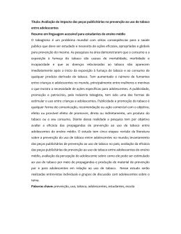 Título: Avaliação do impacto das peças publicitárias na