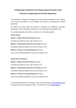 Confederação do Desporto de Portugal organiza formação sobre