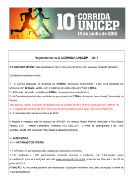Regulamento da X CORRIDA UNICEP – 2015