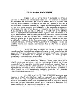 LEI SECA – BOLA DE CRISTAL