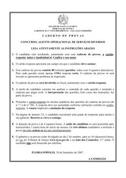 Prova e Gabarito - Tribunal de Justiça de Santa Catarina
