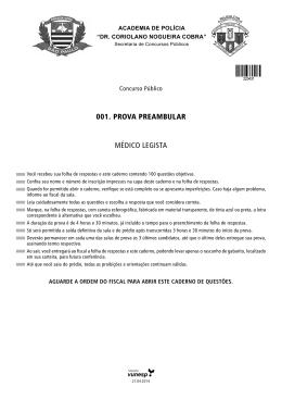 001. Prova Preambular médiCo legista