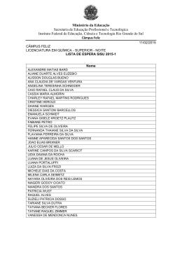 Lista de Espera SiSU 2015